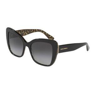 Dolce & Gabbana DG 4348 3215/80 Black Gold Damask